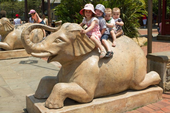 It wouldn't be at trip to the zoo if we didn't have a pic on the Elephant!